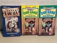 Little Rascals VHS Video Set of 3 VHS Our Gang Vol 1 & 3 & 1st 7 Years