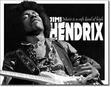 Jimi Hendrix USA Metall Deko Schild Musik Gitarre