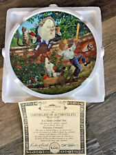Humpty Dumpty Collectors Plate Bradford Exchange w Coa