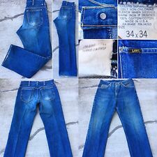 "VTG Lee Jeans Made In USA Naturally Distressed Size 34 (measures 33 X 30 1/2"")"