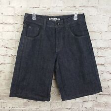 ENYCE Sean Combs Co Denim Jean Shorts Mens 32 Black VTG 90s