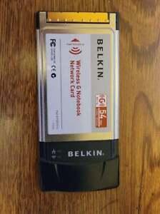 Belkin Wireless G Notebook Network Card  Model #F5D7010 Version 3001