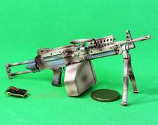 MK46_B MK46 Mod 0 Figure Para Stock Camouflage M249 Light Machine Gun Model 1:6