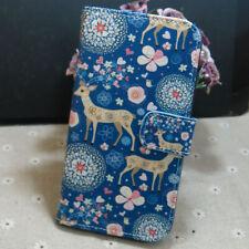 1x Cute Sika Deer Wallet Holder flip case cover for Various Mobile phone