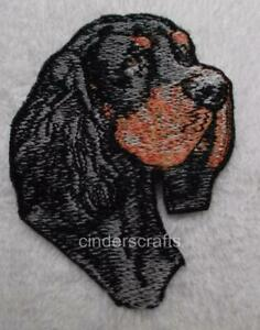 Machine Embroidered Gordon Setter Applique  Sizes   2.3W X 2.9H or 5.0W X 6.4H