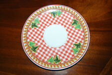 Great Hard To Find Rosenthal Versace Ivy Leaves Passion Red Salad Saucer Plate 1