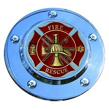 MotorDog69 Fire Rescue Harley Timing Cover Coin Mount Set