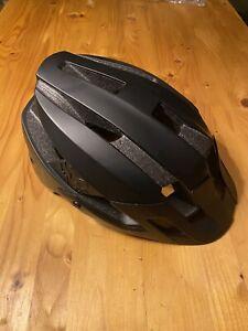 Fox Flux Mountain Bike Helmet in Black. Trails Downhill