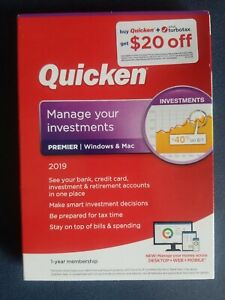 Quicken Premier 2019 Manage Investments Windows & Mac