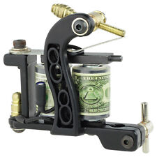 New Pro Tattoo Machine Gun Liner Shader Premium 10-Wrap Coils Smooth & Powerful