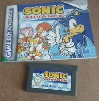 *Cartridge + Manual* Sonic Advance 1 Gameboy Advance Video Game PAL