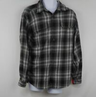 Orvis Mens Button Down Long Sleeve Plaid Flannel Shirt Size M Medium
