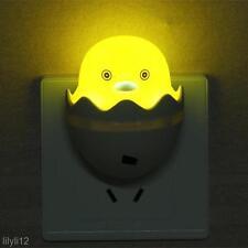 US Plug Duck 220V Wall Socket Light-Control Sensor LED Night Light Bedroom Lamp