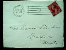 "AMERICAN MACHINE CANCEL: BOSTON, MA., 1892. FIVE BAR ""H"" KILLER."
