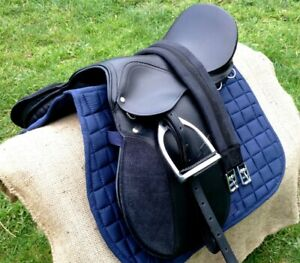 All purpose saddle Black Quality leather fully mounted