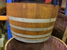 Round  Half Wine barrels Stained  approx 73cm diameter 44cm hgt   $158-00 ea