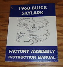1968 Buick Skylark Factory Assembly Instruction Manual 68