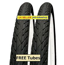 Pair of 16 inch Black bicycle tyres and tubes 16 x 1.75 suits 16x1.95 47-305