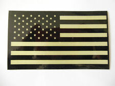 """3.25"""" x 2"""" American Flag Decal Sticker Tactical Subdued Military Reflective, USA"""