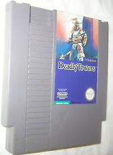 Deadly Towers NES, 1985 Nintendo Entertainment System Free Shipping U.S.A.