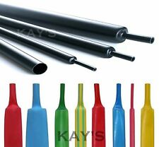 HEAT SHRINK TUBING ELECTRICAL SLEEVING CABLE WIRE HEATSHRINK TUBE ALL COLOURS