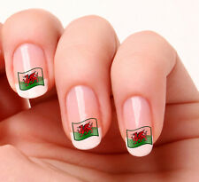 20 Nail Art Decals Transfers Stickers #230 - Welsh Flag