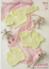 childs cardigan waistcoat wondersoft stardust DK knitting pattern 8604