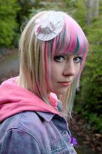 Little Mini Cappello Clip Capelli Rosa A Pois-Emo Scene Goth lolita kawaii
