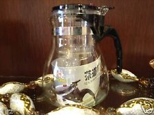2000 ml Clear Glass Chinese Gongfu Tea Maker Press Tea Cup Pot New USA SELLER