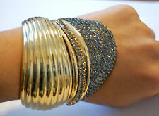 NWT VIONNET CRYSTAL CUFF BRACELET  RARE  AND STUNNING!! W/GIFT BOX