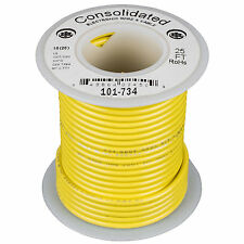 Consolidated Stranded 16 AWG Hook-Up Wire 25 ft. Yellow UL R