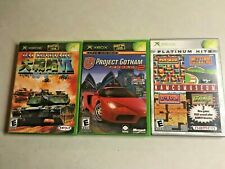 Lot of 3: Xbox Games ~ Gotham Racing 2 ~ Dai Senryaku ~ Arcade ~ with Manuals
