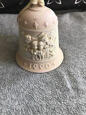 Jefferson Mint 1990 Porcelain Bell Pink Christmas Bell Vintage Carolers Holiday