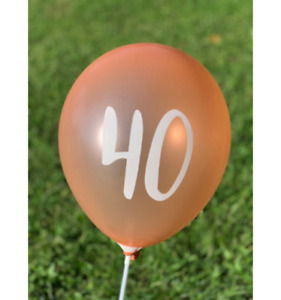 """12 Pack 40th Birthday Rose Gold Balloons 12"""" 40th Anniversary Party Decorations"""