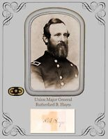President & Civil War Major General Rutherford Birchard Hayes  Photo & Autograph
