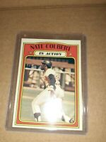 1972 Topps #572 Nate Colbert, In Action, San Diego Padres vintage BASEBALL