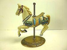 "WILLITTS DESIGNS VINTAGE PORCELAIN CAROUSEL HORSE & BRASS BASE 6""LONG x 6.5""TALL"