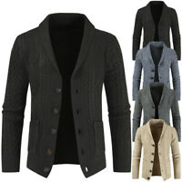 New Mens Winter Casual Sweater Cardigan Knitted Coat Jacket Thick Warm Knitwear