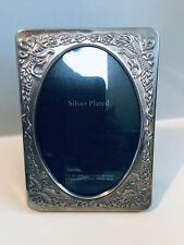 """Vintage Silver Plate Picture Frame 5.5""""x4.5"""" Fit Picture 4.5""""x3.5"""" Strut Back"""
