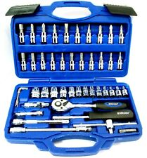 Metric Socket Set 1/4 inch Drive Ratchet and Bit Set 46pc US Pro 4mm 14mm 1387
