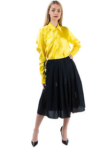 RRP €645 FABIANA FILIPPI Flare Skirt Size 42 / S Sequins Pleated Made in Italy