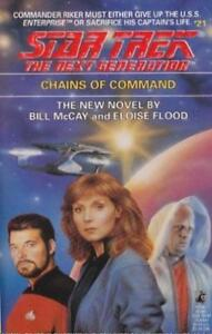 Star Trek TNG Chains of Command by E Flood and W McCay (1992 Paperback) Book #21