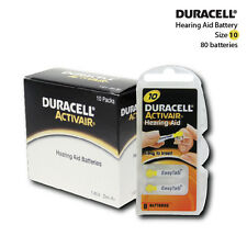 Duracell Hearing Aid Batteries Size 10 (80 Batteries)