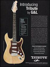 The 2003 G&L Leo Fender Tribute Legacy Premium Swamp Ash guitar 8 x 11 ad print