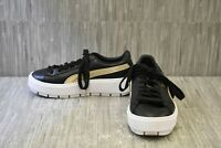 Puma Basket Platform Trace Platform 36772801 Sneakers, Women's Size 7.5M, Black