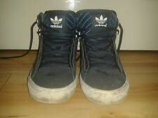 Mens Trainers - Adidas Originals Hi Tops - Dark Blue With White - Size 5.5 UK