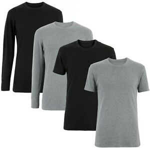 NEXT™ Mens Thermal Tops New Thick Brushed Warm Winter Base Layer Vests T-Shirts