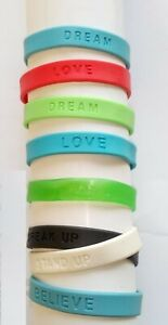Bracelet Silicone Armband Wristband Love (2er-Set) Freedom Dream tolles Geschenk