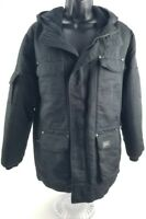 Women Spire Black Medium Coat With Hood Size Medium Lightly Worn