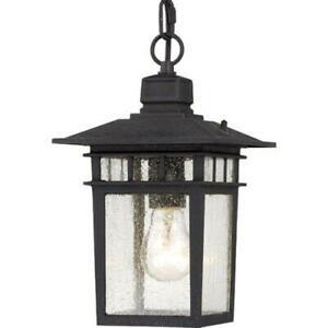 Nuvo 60/4956 Cove Neck One Hanging Lantern 100 Watt A19 Max Light - Black